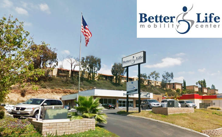 Better Life Mobility Center in La Mesa CA just outside of San Diego.